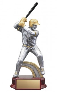 Resin Classic Male Baseball Silver/Gold 6.5