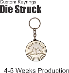 Custom Die Struck Economy Key Ring
