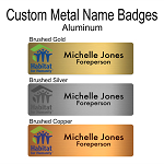 Name Badge, Metal with Colour