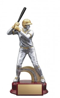 Resin Classic Female Baseball Silver/Gold 6.5