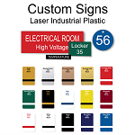 Industrial Laser Engraved Plates and Signs